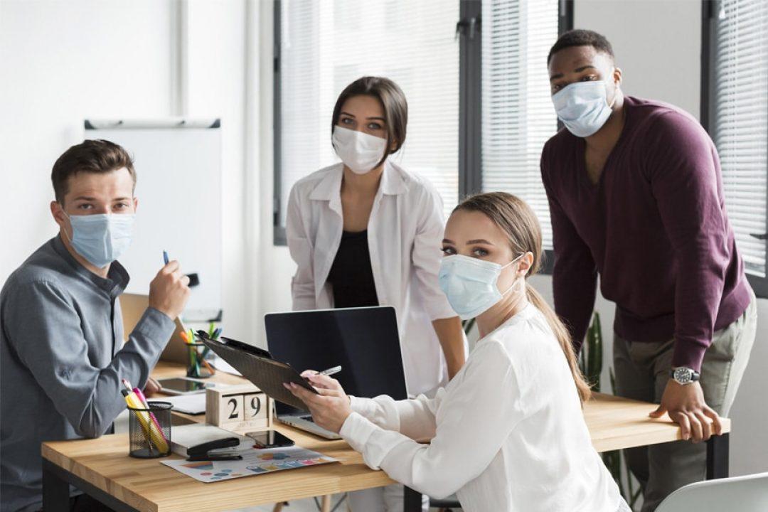 Masque personnalisé lavable 50 fois et communication professionnelle